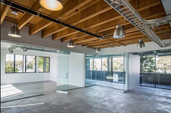 Interior of the new XYZ office building in Santa Monica