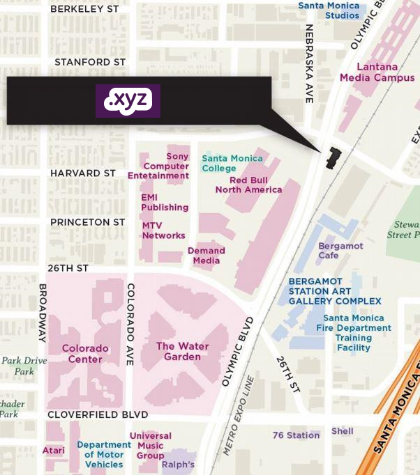 Map of the new XYZ office