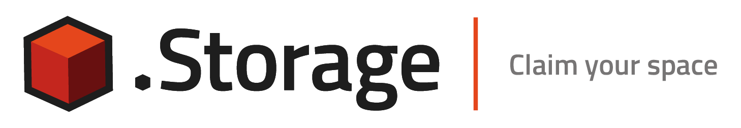 .storage logo with tagline - Claim your space